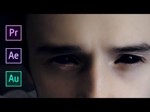 Как сделать ЧЕРНЫЕ ГЛАЗА ДЕМОНА и СТРАШНЫЙ ГОЛОС | Adobe After Effects, Adobe Premiere Pro, Audition