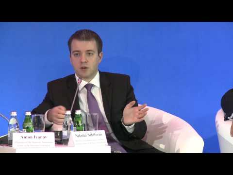 Nikolai Nikiforov at the First Moscow International Foreign Investment Forum