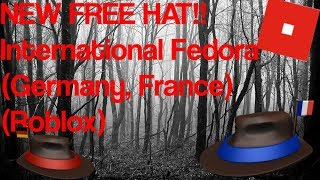 NEW FREE HAT!!! International Fedora Series (Roblox) (Sebastianople)