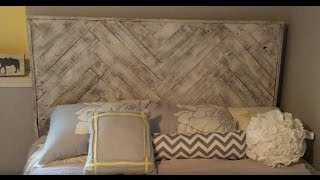 How To Make A Headboard From Recycled Pallets