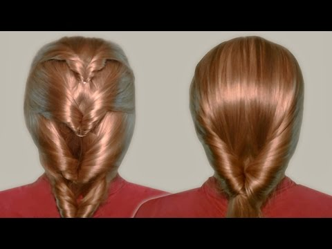 Inside Out Ponytail Hairstyle For Long Hair On Yourself Step By