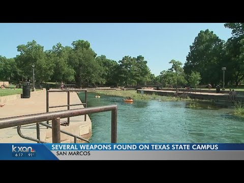 Texas State University Police Find A Stash Of Weapons At Sewell Park