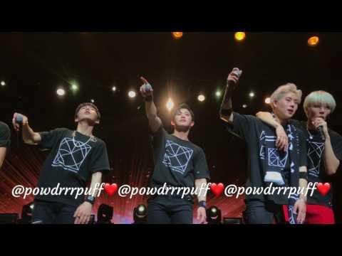 FANCAM - Monsta X - 5:14 (LAST PAGE) - Beautiful In US Tour (w/ Hyungwon) - LA 170723