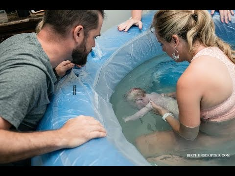 Unassisted Home Water Birth Baby #7