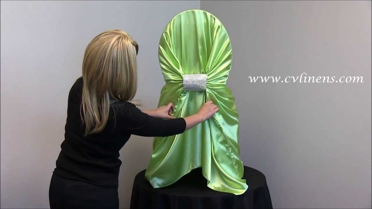 chair covers universal nico swivel how to tie a satin self cover youtube