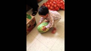 Rehan and the watermelons