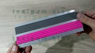 Накладка алюминиевая двойная с розовыми резиновыми вставками