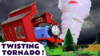 Thomas & Friends Twisting Tornado Rescue With Wizard Funling And Farmer Funling Tt4u