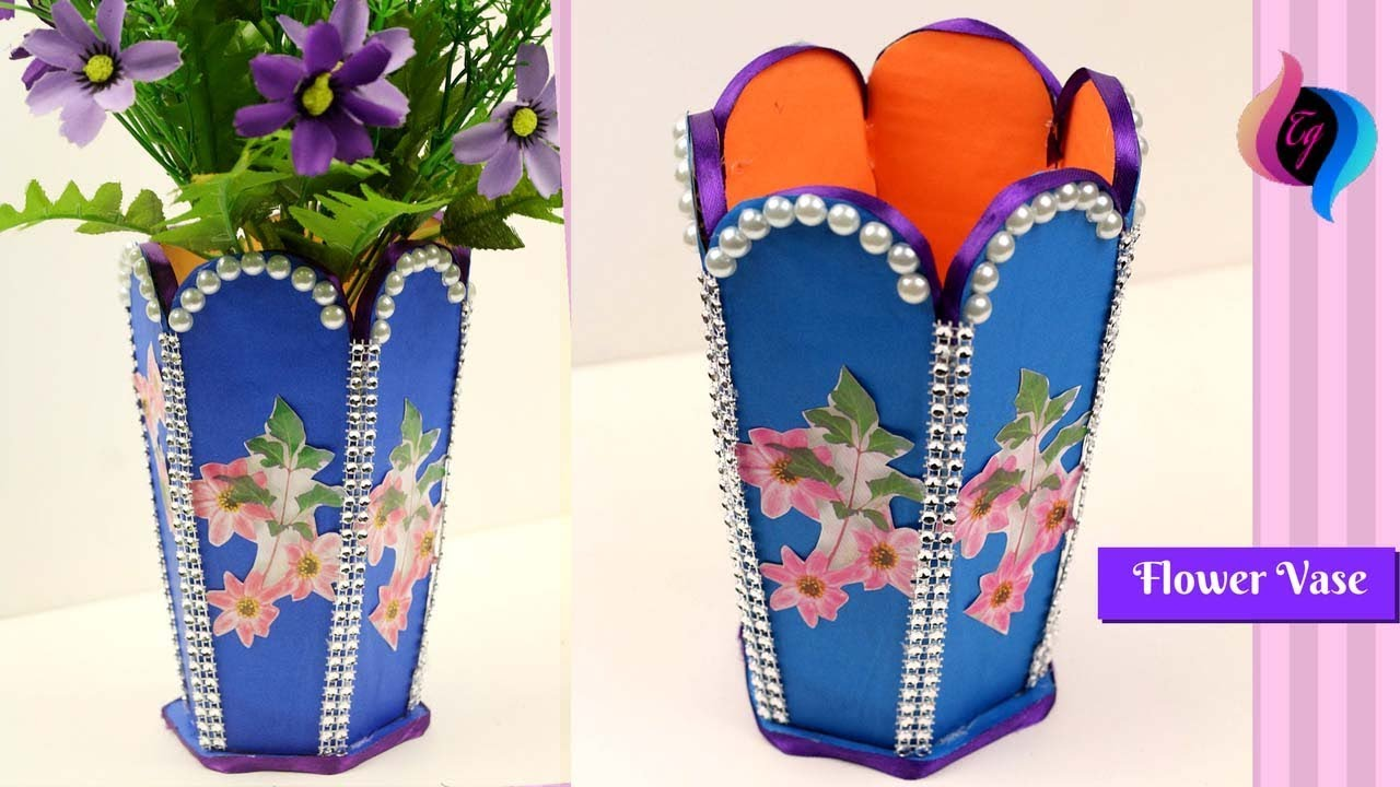 Diy how to make best out of waste flower vase flower for Making best from waste