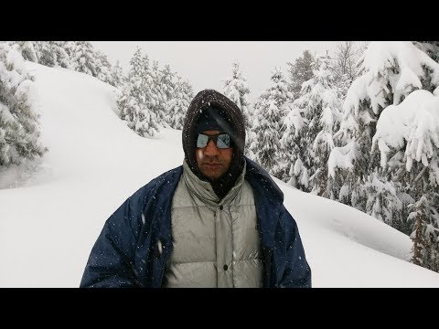 winter survival tour to Makra peak in extreme snow fall in kaghan valley north of pakistan