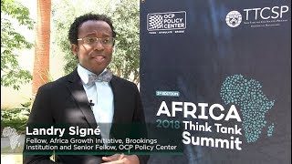 "Interview avec Landry Signe ""Africa Think Tank Summit 2018"""