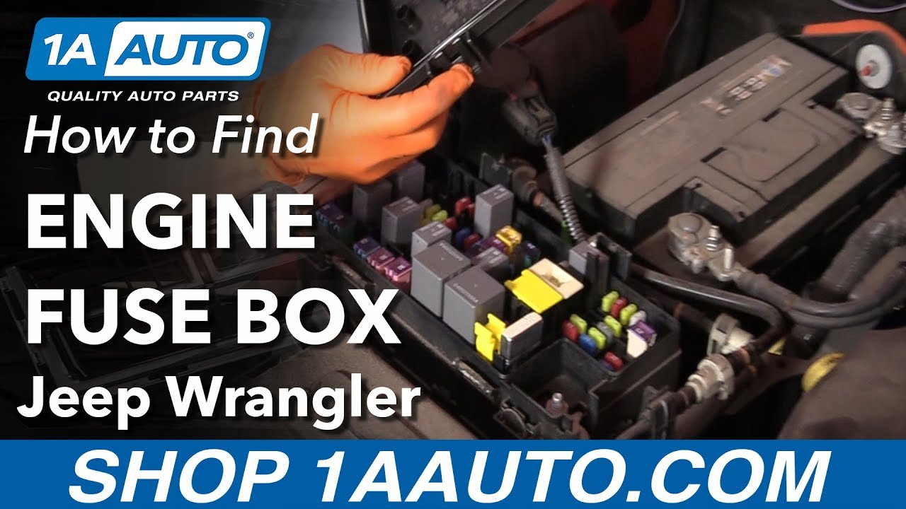 how to find engine fuse box 06 18 jeep wrangler [ 1280 x 720 Pixel ]