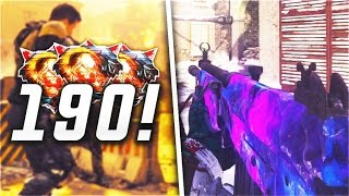 190 KILLS! 3 NUCLEARS IN 1 GAME! UNLOCKING DARK MATTER CAMO ON GALIL DLC WEAPON ON BLACK OPS 3!
