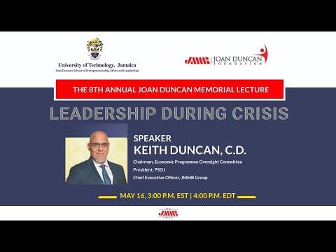 8th Annual Joan Duncan Memorial Lecture: Leadership During Crisis