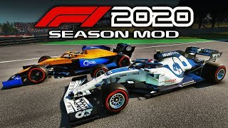 F1 2020 Gameplay Mod - Testing at Barcelona! Alpha Tauri Gameplay!