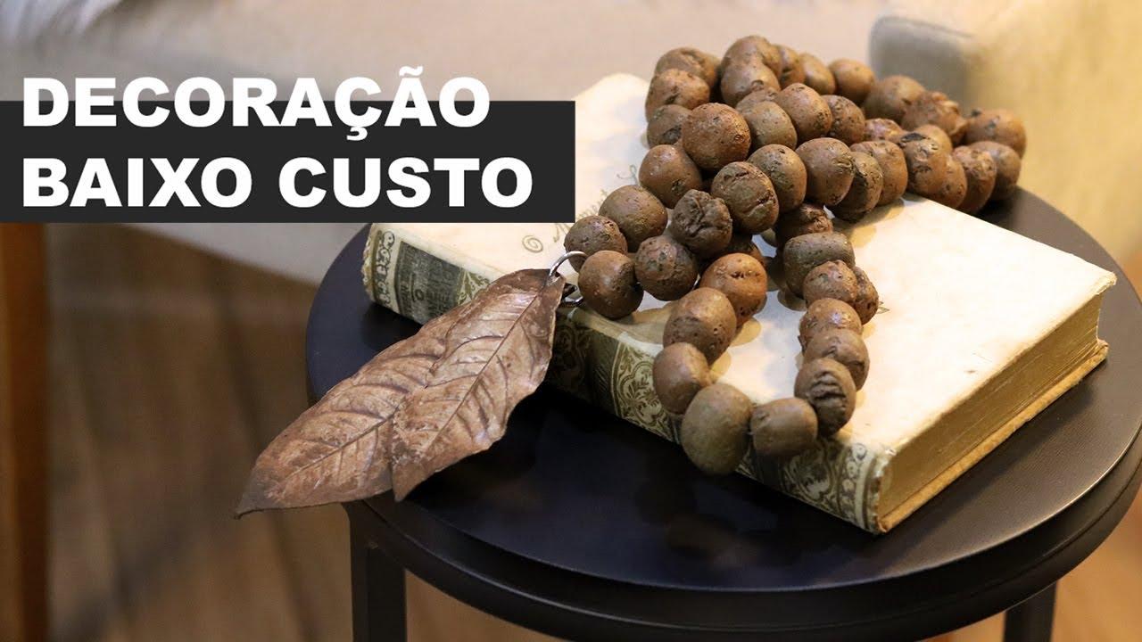 COMO FAZER COLAR DECORATIVO GASTANDO APENAS R$ 5,OO | DECORAÇÃO BAIXO CUSTO