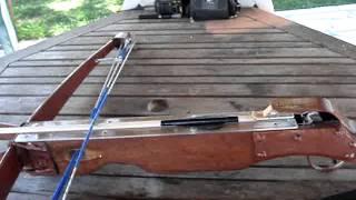 Βαλλίστρα 55 κιλά (120 lbr) - Homemade crossbow