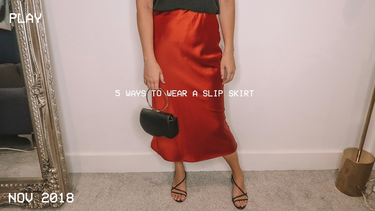 3ef6cf3d38 5 Ways To Wear The Satin Slip Skirt | Petite Side of Style - YouTube