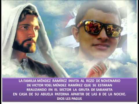 Invitacion De Novenario Victor Joel Méndez Ramírez