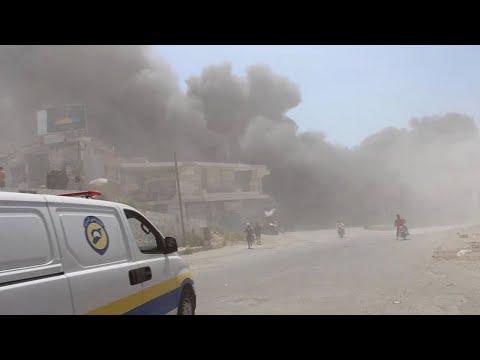 Russian, Syrian airstrikes hit Idlib