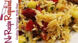 Orzo Pasta With Vegetables - Noreciperequired.com