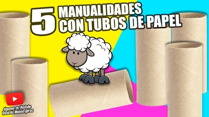 5 Manualidades Con Tubos De Papel Higiénico Manualidades Reciclaje Diy Youtube
