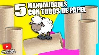 5 MANUALIDADES CON TUBOS DE PAPEL HIGIÉNICO|Manualidades Reciclaje|DIY