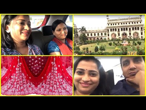 OVER Judgmental IN-LAWS!! - Quick Lucknow Tour\ lucknowi chikankari Saree Haul