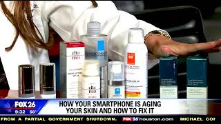 Is your smartphone aging your skin? Dr.Ingraham shares some tips.