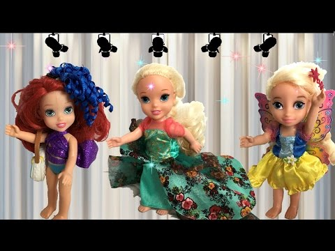 Anna and Elsa Toddlers Fashion Show Barbie Summer Collection # 2 Chelsea Ariel Disney Toys In Action