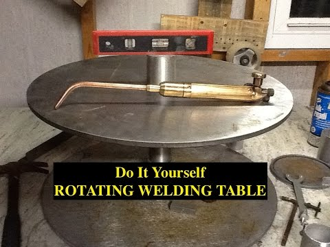 DIY ROTATING WELDING TABLE/POSITIONER - 5 HOUR BUILD ($0.00)