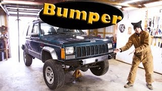 How To Install a JcrOffroad Front Bumper - Jeep Cherokee