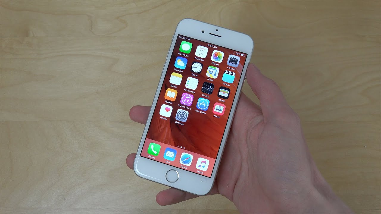 iphone 6 ios 9 beta 5 new wallpapers first look youtube