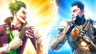 THE JOKER vs. MIDAS REX! (Fortnite Family Feud)