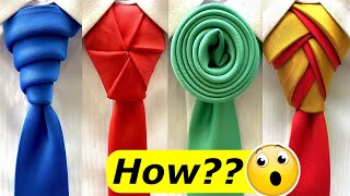 4 Awesome ideas how to tie a Necktie