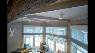 Дизайн потолка с эркером