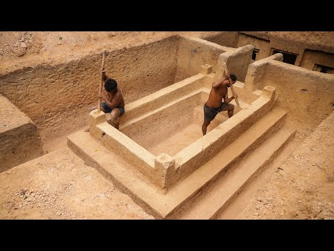 Build Greatness Underground Temple Swimming Pool Construction Bushmen Designed #Part2