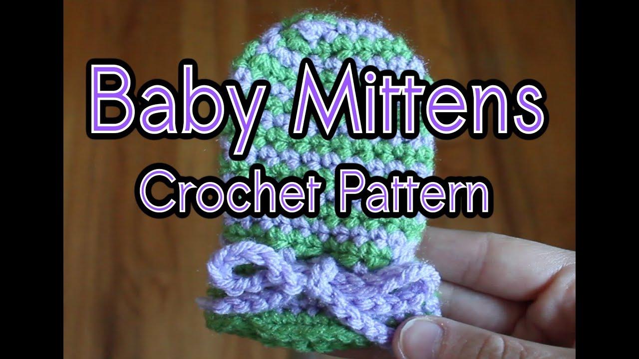 Spiral Baby Mittens (Crochet Tutorial) - YouTube