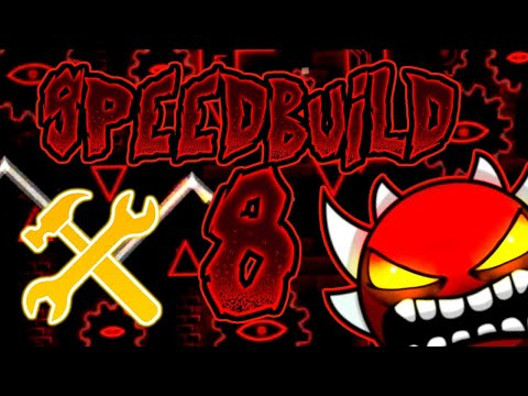 Geometry Dash (2.13) SPEED BUILD #8 RED THEME/HECK THEME (S2)