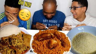 CHOOSE AND EAT CHALLENGE | IJEBU GARRI + JOLLOF RICE & CHICKEN + THE FAMOUS EGUSI SOUP | FOOD VIDEOS
