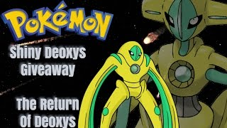 Roblox Project Pokemon // Shiny Deoxys Winner // Delay Details?