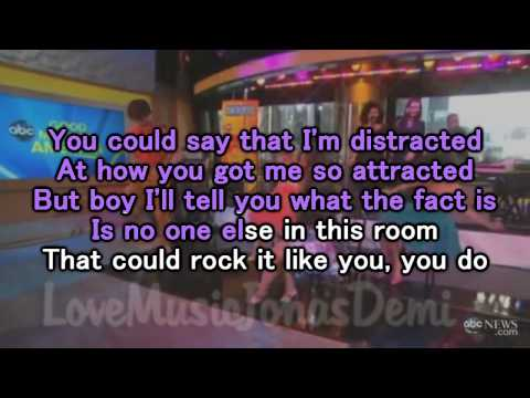 Karaoke Who's that boy Demi Lovato Instrumental