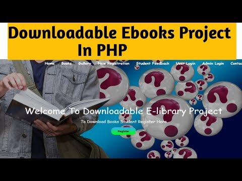 Downloadable E-books Project/E-library Project In Php