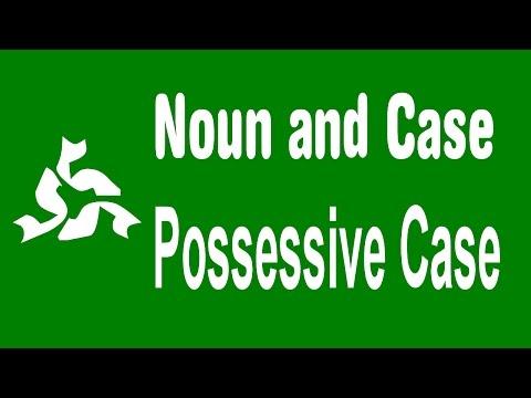 Noun and Case, possessive case in noun