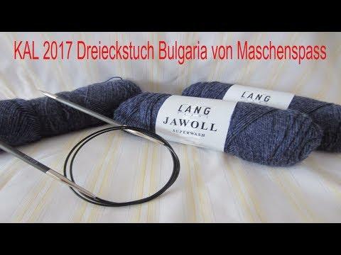KAL - Knit a long Dreieckstuch Bulgaria Teil 1