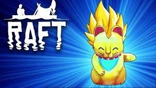 LUCKY CAT EVOLUTION?! - Raft - #13 (Raft Multiplayer Gameplay)