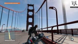 Watch Dogs 2. Bike Glitch On Golden Gate Bridge