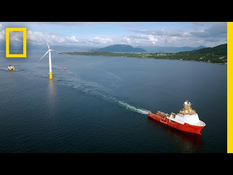 Watch the World's First Floating Wind Farm Ride the Waves | National Geographic