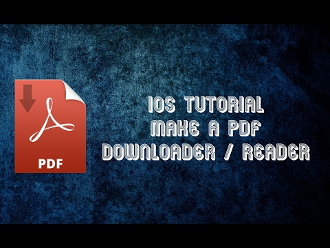 iOS Tutorial Make a PDF Downloader and Reader from scratch in Swift 3 - Part 1