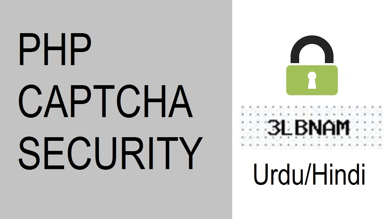 PHP Captcha Code Security Learn How To Create Urdu/Hindi